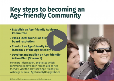 Age-friendly Communities Webinar