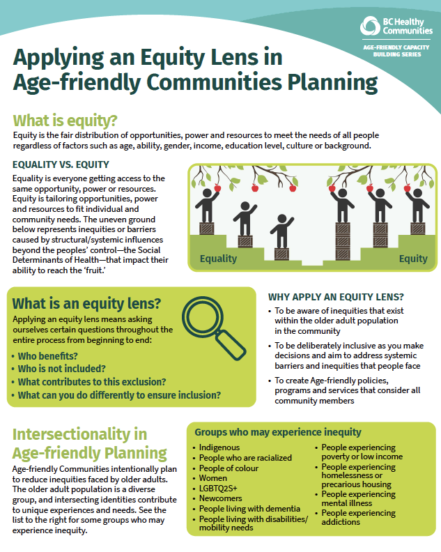 New Resource: Applying an Equity Lens in Age-friendly Communities Planning