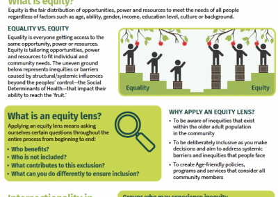 Applying an Equity Lens in Age-friendly Communities Planning
